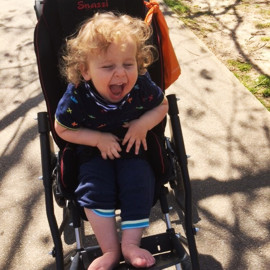 Rayne in his Snazzi pushchair